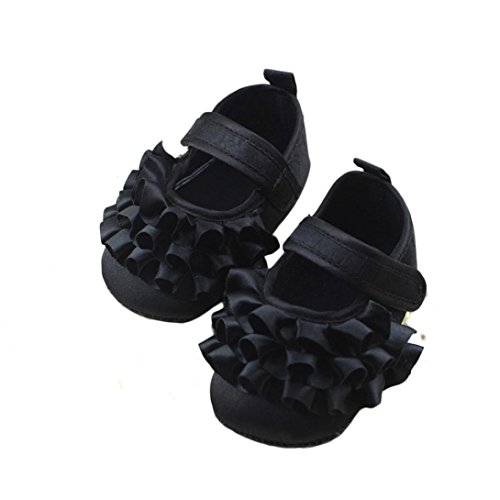 - DZT1968 Baby Girl Soft Sole Princess Mary Jane Shoes Prewalker (0~6 Months Baby)