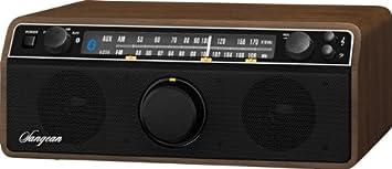 Sangean WR-12BT AM/FM/Bluetooth/AUX Analog Wooden Cabinet Receiver (Dark Walnut) Sangean - CA