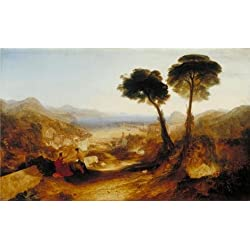 Perfect Effect Canvas ,the Cheap But High Quality Art Decorative Art Decorative Prints On Canvas Of Oil Painting 'Joseph Mallord William Turner - The Bay Of Baiae, With Apollo And The Sibyl,1823', 10x16 Inch / 25x42 Cm Is Best For Powder Room Decoration