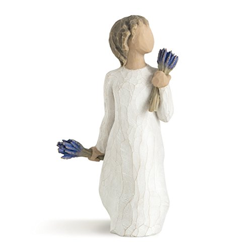 Willow Tree hand-painted sculpted figure, Lavender Grace (Grace Angel Figurine)