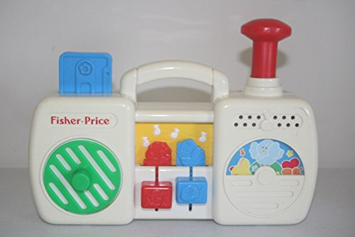 Fisher Price 1991 Musical Boombox Radio Vintage Toy