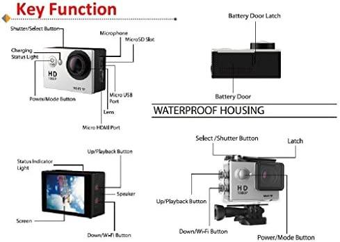 JZHY 4K Wifi acciš®n de la cš¢mara a prueba de agua ultra HD ...