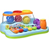 Best Choice Products Kids Musical Rainbow Xylophone Piano Pounding Bench with Balls & Hammer
