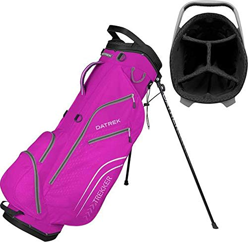 Datrek Golf Trekker Ultra Lite Stand Bag (Magenta/Silver)
