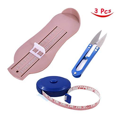 Dispositivo de medición de pies, cinta métrica suave y retráctil para niños y adultos