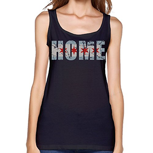 Vintage Fade Home Chicago Flag Custom Women's Sleeveless Sports Tee Comfy Tank Crop Tops