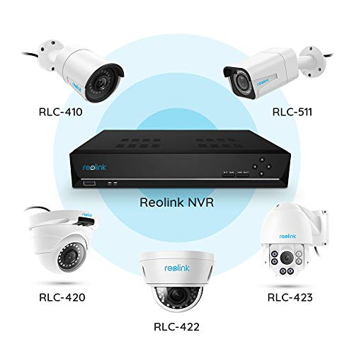 Reolink PoE NVR 16CH IP Home Security Camera System Video Recorder