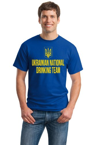 UKRANIAN NATIONAL DRINKING TEAM Unisex T-shirt / Funny Ukraine Beer Tee
