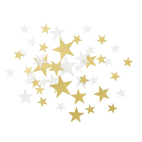 Talking Tables Gold Party Decorations | Star Confetti | White And Gold Table Scatter | Great For Wedding, Bridal Shower, Christmas And Birthday Decorations ()