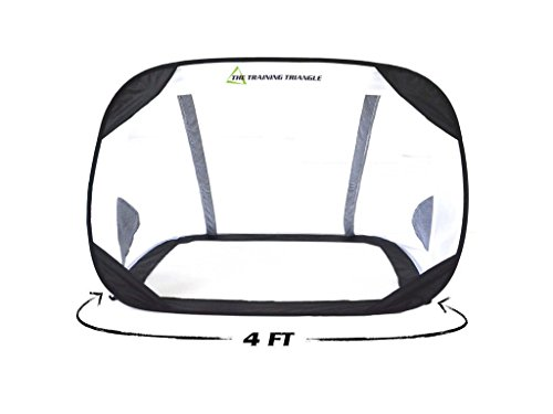 GoalAnywhere Pop Up Portable Soccer Net (4 Ft Golazzo) by The Training Triangle