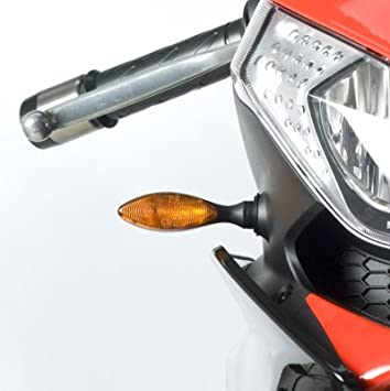 RG372BK R/&G MOTORCYCLE BLACK AERO LED TYPE MICRO INDICATOR LIGHTS FRONT OR REAR FITMENT