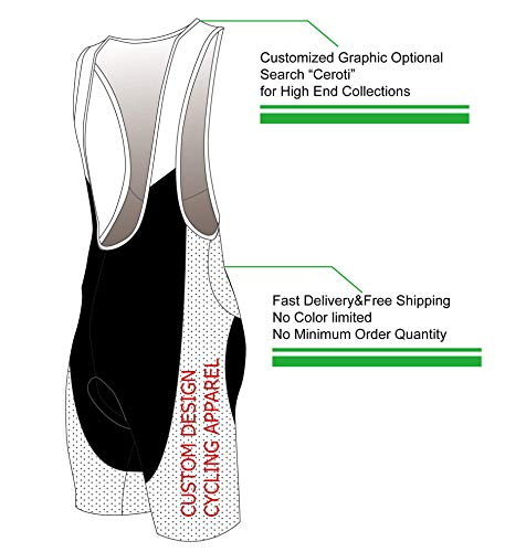 Ceroti | Custom Apparel Service | Men's Pro Long Inseam Cycling Bibs, with Side Pockets Optional,Italian Pro Chamois Bicycle Riding Bib Shorts Bike Biking Wear UPF50+
