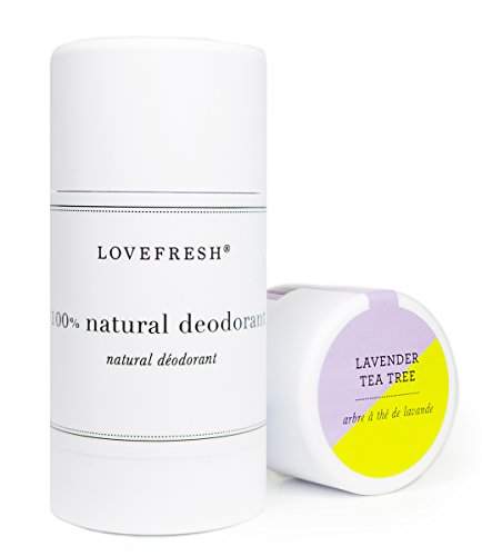 Lovefresh - All Natural Deodorant | Aluminum Free (Lavender Tea Tree) (3.7 oz)