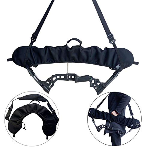 ZSHJG Weatherproof Bow Sling, Cam and String Protector Compound Bow Cams Sling Case Carrier (Black)