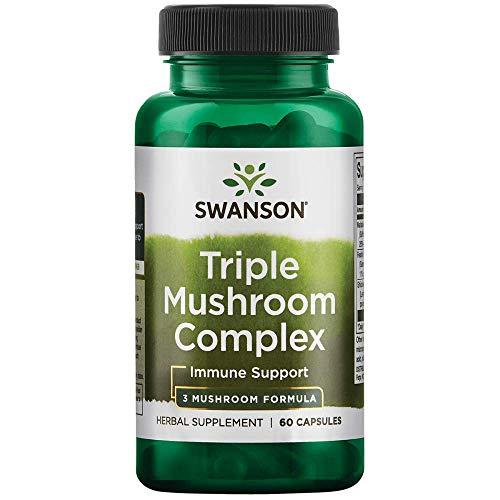 - Swanson High-Potency Triple Mushroom Standardized Complex 60 Capsules