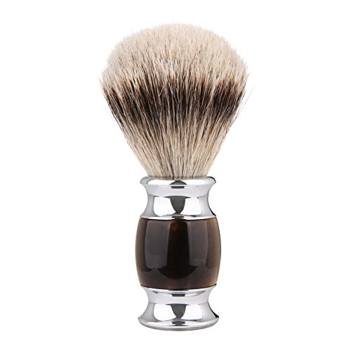 Silvertip Shaving Brush, CYH 100% top Quality Silvertip Badger Hair with Imported Resin Material Handle Luxury Facial Care Tools for Safety Razor, Double Edge Razor, Shaving Razor