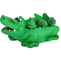 Honglixue Toys Rubber Crocodile Family Bath Set (Set of 4) - Floating Bath Tub Toy (Set of 4)