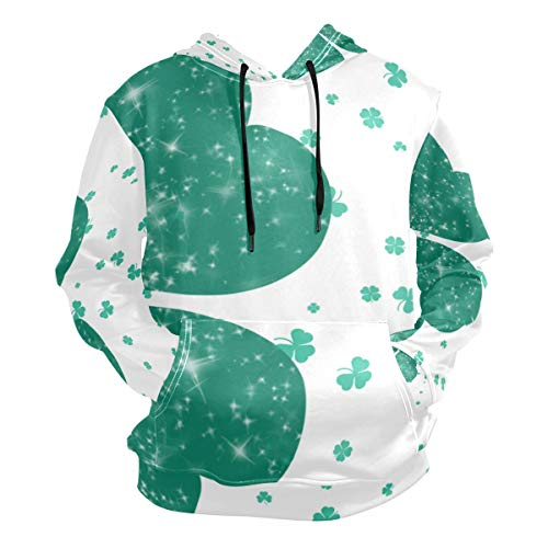 Four Leaf Clover Lucky Hoodies for Men 3D Sweaters Fashion Sweatshirts Pullover Boys Amazing