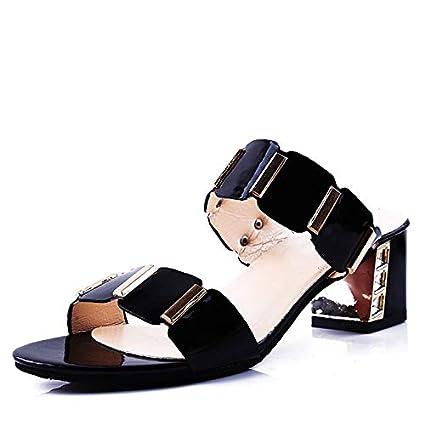 85f33b2ce7a Amazon.com: Woman Summer Slippers 2018 Rhinestone Flip Flops Lady ...
