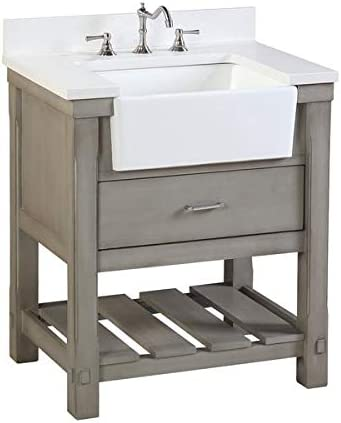 Amazon Com Charlotte 30 Inch Bathroom Vanity Quartz Weathered
