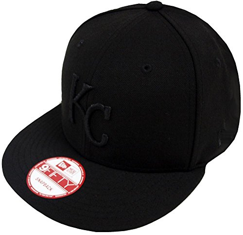 New Era Kansas City Royals Black On Black Snapback Cap 9fifty Limited Edition -