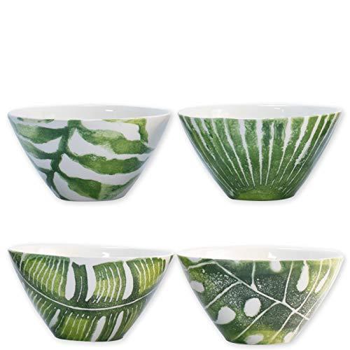Bowl Vietri Decorative - Vietri Into the Jungle Assorted Cereal Bowls, Set of 4