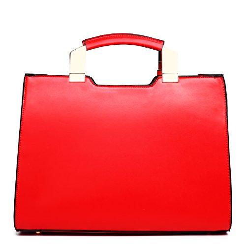 Miss Lulu - Bolso de hombro mujer rojo y blanco