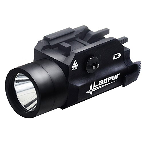 Black Halloween Contact Lenses (USA LASPUR Weapon Rail Mount CREE LED High Lumen Tactical Flashlight Light with Strobe for Pistol Rifle Handgun Gun, Black)