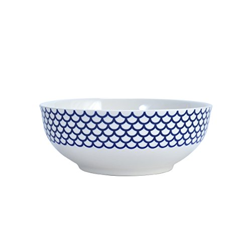 (Mikasa Lavina White Vegetable Bowl, 9.5-Inch)