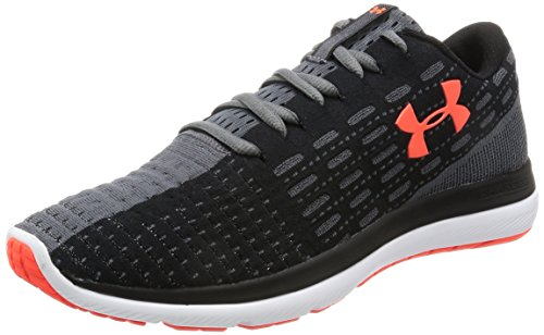 Under Armour Men Threadborne Slingflex Shoes Black (002)/Rhino Gray