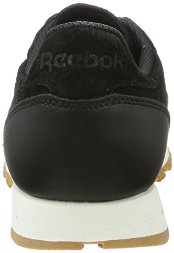 Chalk Classic Black SG Basses Leather Noir Homme Reebok gum Sneakers Aq86T