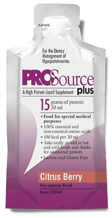 Medtrition Prosource Plus Citrus Berry Packets: Concentrated liquid protein. 15 grams of protein per 1 fl. oz. (100 pack) by Medtrition