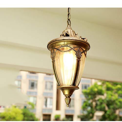 Pumpink Barn 1 Light European Pendant Light Waterproof Outdoor Garden Light LED Grape Lamp Aisle Lights Balcony Chandelier Villa Garden Chandelier for Porch (Color : Bronze) (Highlights Finish Chandeliers Gold)