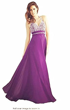 TL8 Evening Dresses party full length prom gown ball dress robe (14, PURPLE)