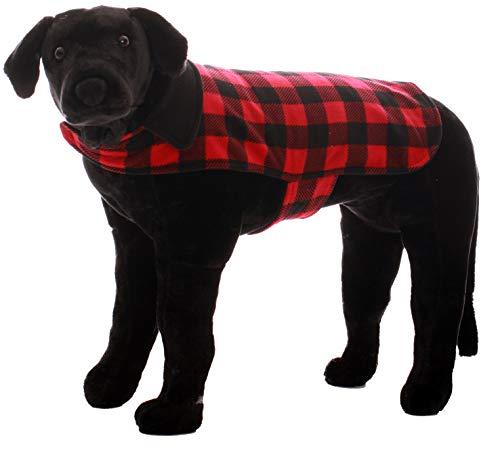- #followme Buffalo Plaid Dog Jacket Clothes for Dogs 6747-10195B-M-L