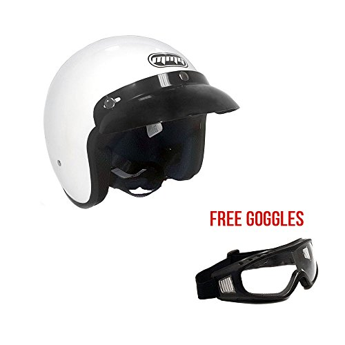 Old School 3 4 Motorcycle Helmets - 1