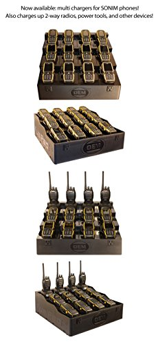 Klein Electronics FUELPAD12 Professional Series 12-Unit Battery Charger, Radio & Battery Charger Desktop Organizer Station, No need to purchase pods, Mix various radios on one charger by Klein Electronics (Image #1)