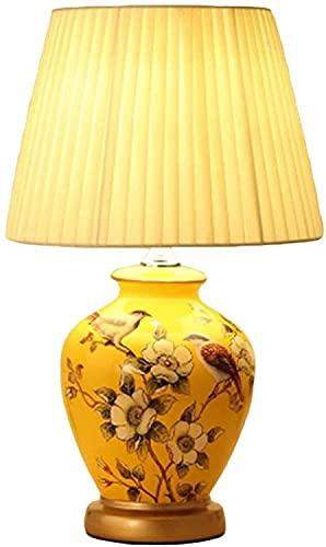 XFXDBT Nachtkastje Lamp Keramische bureaulamp slaapkamer bedlampje woonkamer Amerikaanse retro woonkamer en slaapkamer…