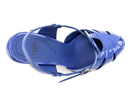 Fendi Mujer 8X4714NEHF0Q3V Azul Cuero De Charol Sandalias