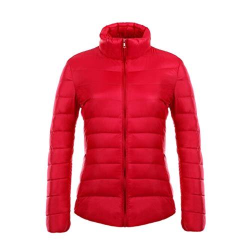 Rosso Parka Stand Ultraleggero 90 Mxssi Lunga Manica Slim Piumino Donna Collar Bianco Antracite 7w8qgAF