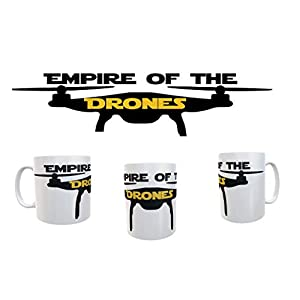 Empire of the Drones Mug Drone Pilot Mug UAV Retro Novelty Personalised White 11oz Tea Cup Coffee Mugs #Drones 41OunGEnmzL