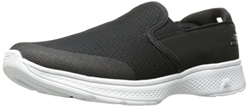Skechers Mens Går 4-54.171 Walking Sko Svart / Vit