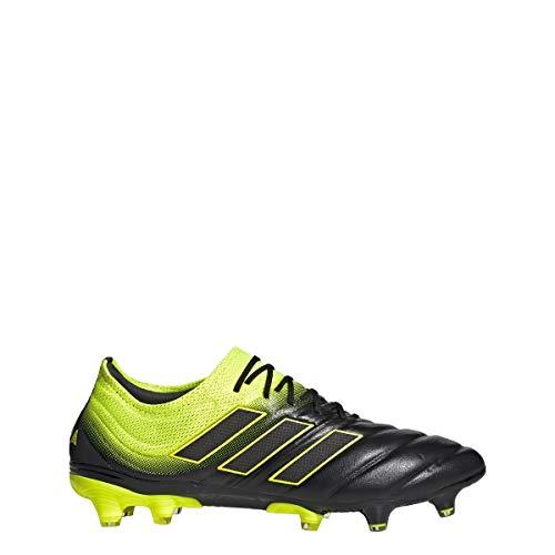 adidas Copa 19.1 FG Cleat - Men's Soccer Core Black/Shock Yellow