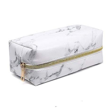 Amazon.com: Bolsa de maquillaje de mármol con diseño de ...