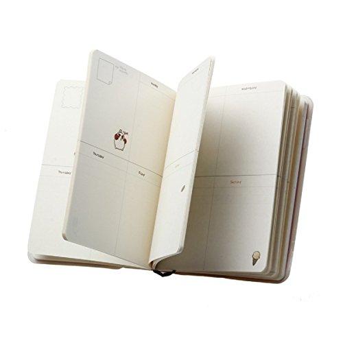 Tongshi Molang Diario Weekly Planner Agenda Bloc de notas Notebook lindo conejo de Kawaii (azul)