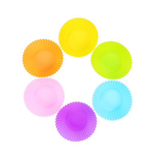 [TuangShop Silicone Cup cake Tool Bakeware Baking Pastry 5CM 12pcs 6 Colors] (Easy Sally Costumes)