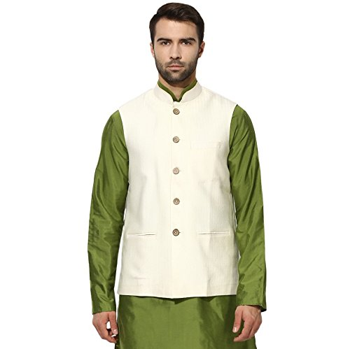 KISAH Men's Indian Jaquard Cotton Silk Nehru Jacket for sale  Delivered anywhere in USA