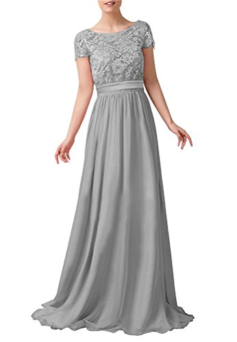 Lily Anny Short Sleeve Two Piece Set Mother Of The Bride Dresses L230LF Sliver US26W