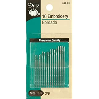 Dritz Embroidery Hand Needles, Size 3/9 (16-Count)