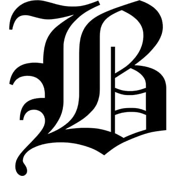 Amazon.com: Old English Letter B Initial Decal 3.75: Home & Kitchen